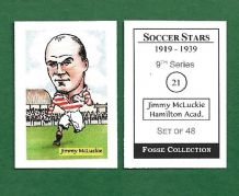 Hamilton Academicals Jimmy McLuckie 21 (FC)